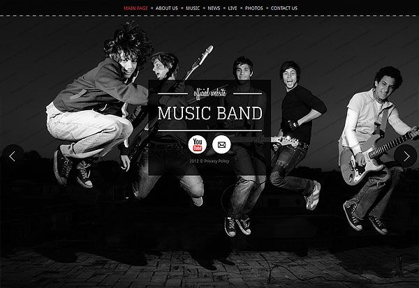 music band website template new web templates for you to choose