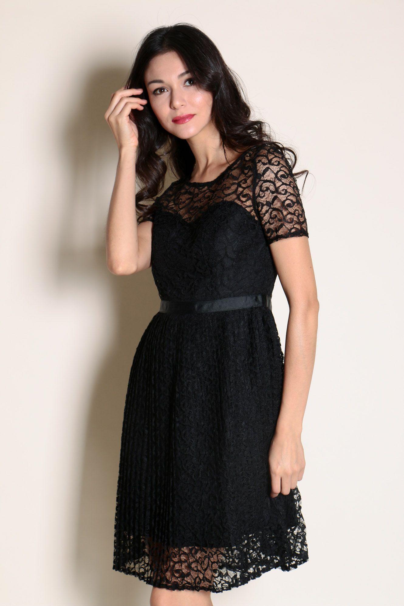 Spring Maternity Colleen Pleated Dress Black Kleid SCHWARZ