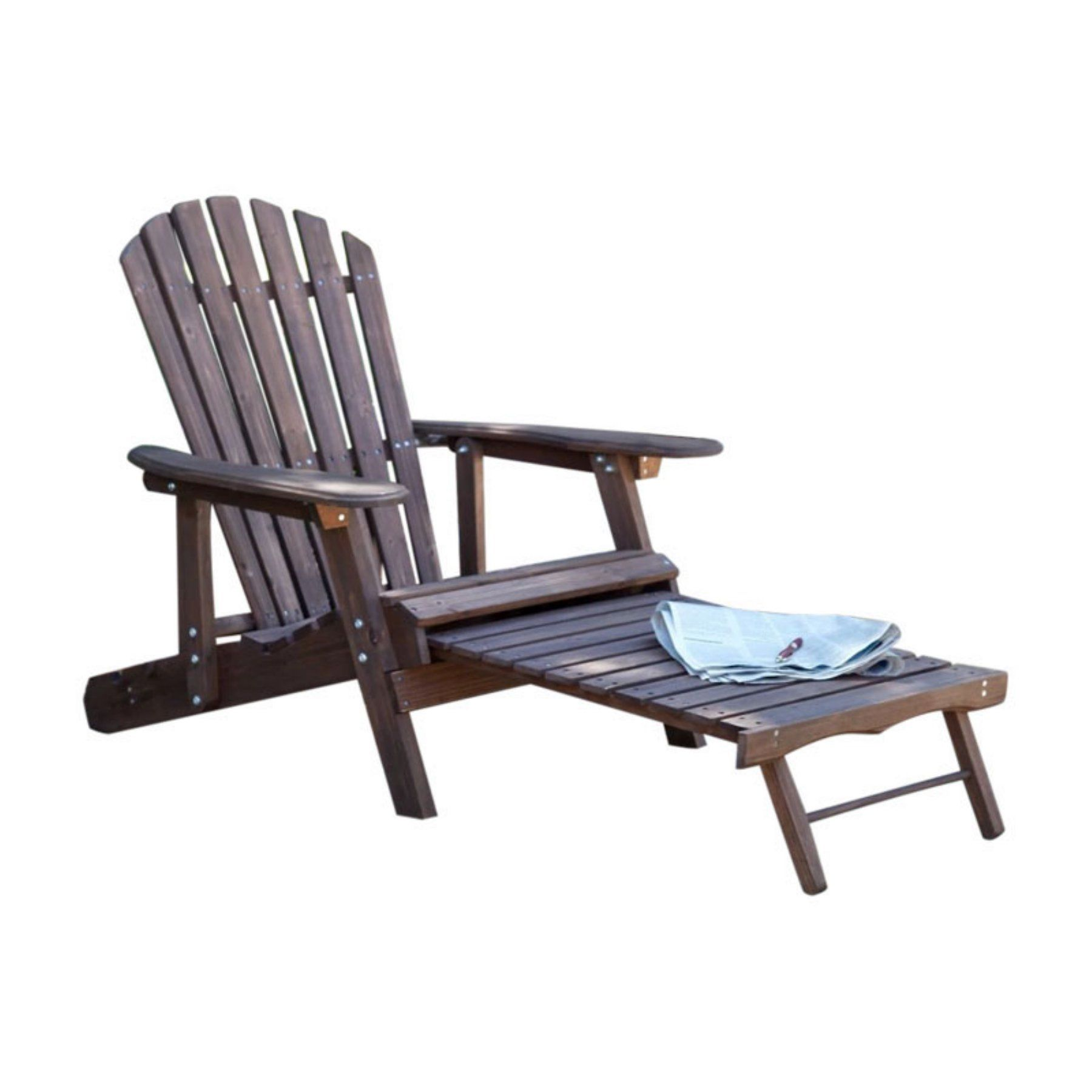 Outdoor W Unlimited Muskoka Adjustable Reclining Adirondack Chair With Ottoman Adirondack Chair Outdoor Chairs Chair