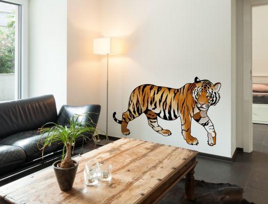 Afrika Tiere Wandtattoo Mit Tiger Zur Wanddekoration Wandtattoo Kinderzimmer Tiere Afrika Tiere Wandtattoo