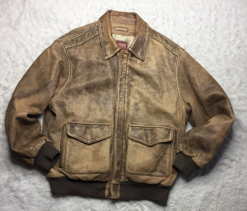 Wilsons Leather Bomber Jacket Mens Size Xl Brown Distressed Collar Pocket S6 Wilsonsleather Flightbomber Leather Bomber Jacket Leather Bomber Mens Jackets [ 854 x 999 Pixel ]