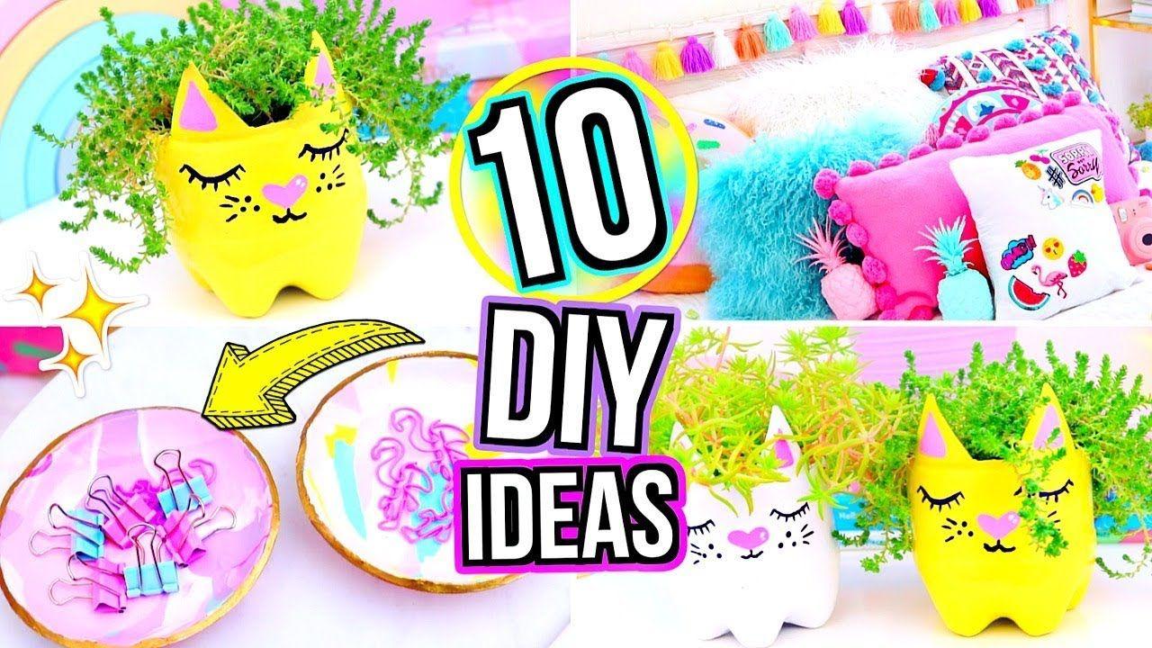 10 Diy Room Decor Ideas Diy Room Decorating Ideas For Teenagers 2018 Diy Room Decor Diy Crafts Crafts