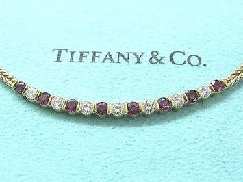 Tiffany Co 18kt Gem Ruby Diamond Necklace 1.50ct 16. Get the lowest price on Tiffany Co 18kt Gem Ruby Diamond Necklace 1.50ct 16 and other fabulous designer clothing and accessories! Shop Tradesy now