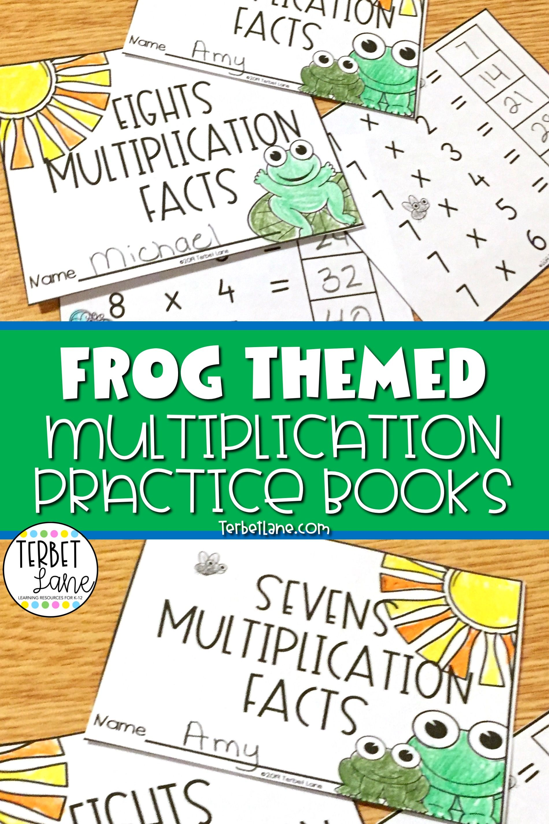 Frogs Multiplication Facts Practice Books In With