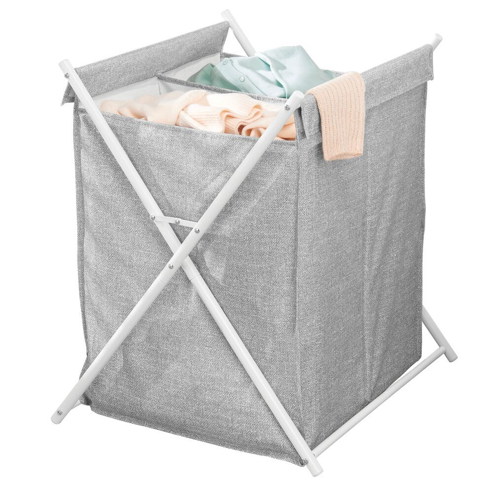 Collapsible Bamboo Fabric Laundry Hamper Basket Bag Laundry