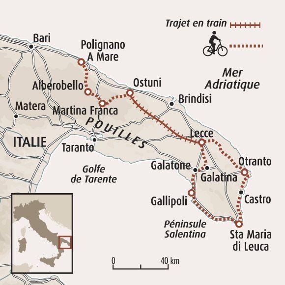 Carte Italie Ostuni.Circuit Carte Italie Le Charme Des Pouilles A Velo Italy
