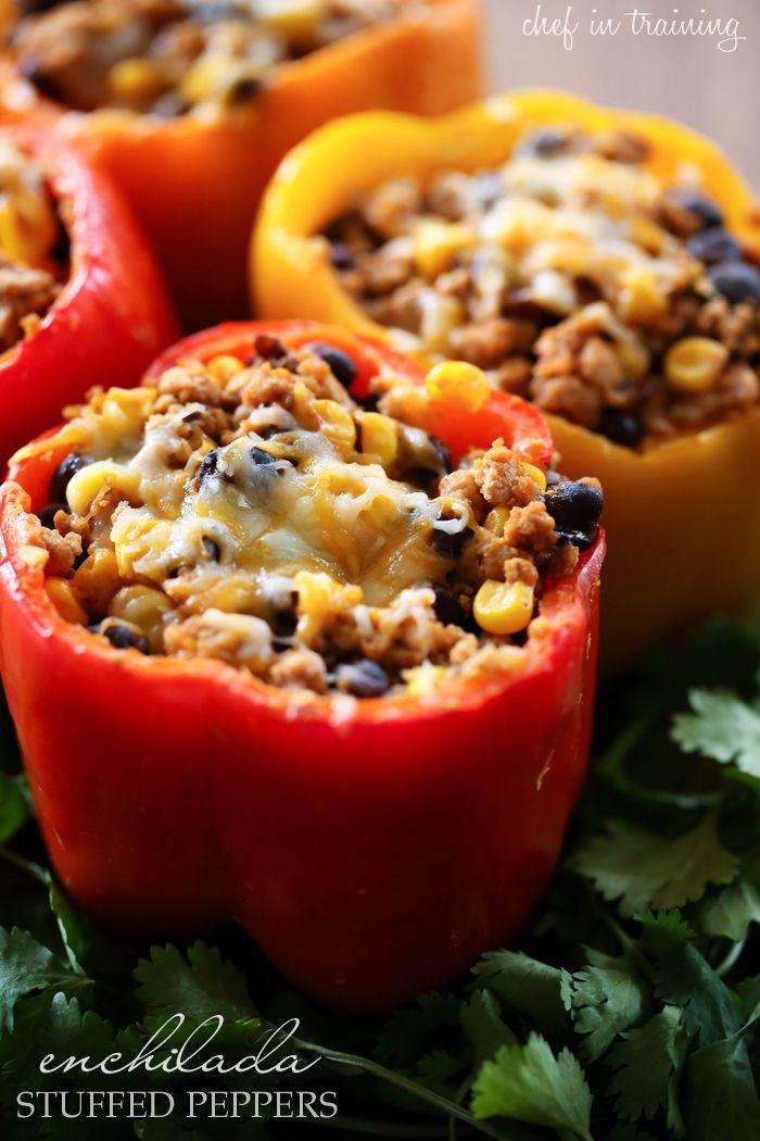 die besten 25 healthy stuffed bell peppers ideen auf pinterest pfeffer rezepte mit quinoa. Black Bedroom Furniture Sets. Home Design Ideas