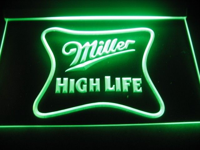 Miller high life logo beer bar pub store light sign signs miller high life logo beer bar pub store light sign aloadofball Images