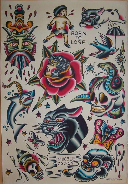 Flash Of Awesomeness Neo Oldschool Style Traditional Tattoo Art