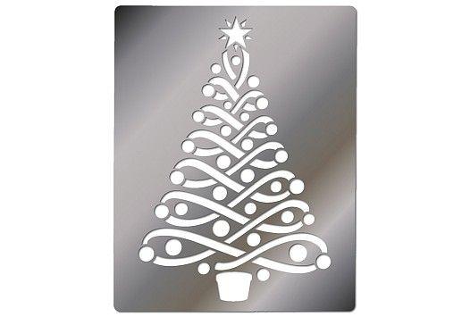 Embossing Stencil Ribbon Christmas Tree Christmas Stencils Christmas Tree Stencil Stencils Printables