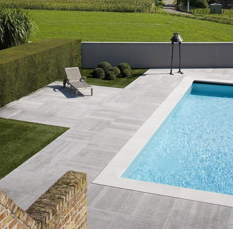 Terrace Pools belgian bluestone - swimming pool - terrace - hullebusch