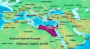 Map of Ptolemaic Egypt -- Ptolemaic Egypt lasted about 300 years until the Roman Conquest.