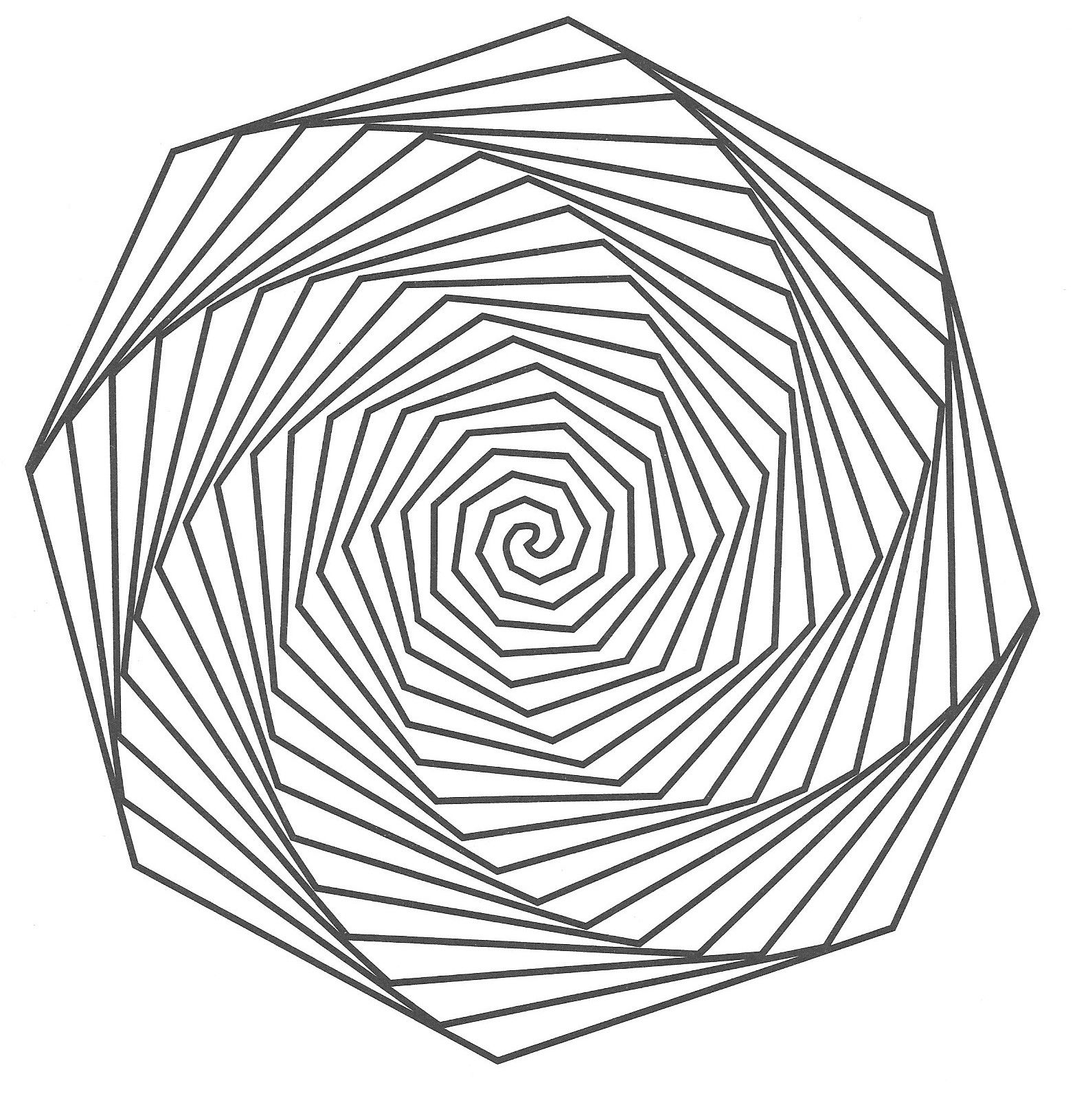 Mandala Optik optische täuschung | Malvorlagen - Coloring Pages ...