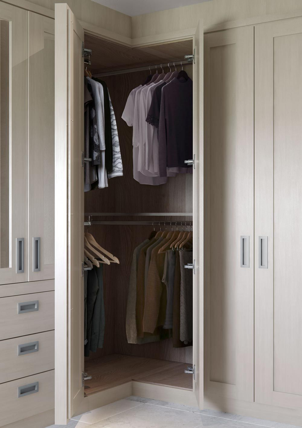 Corner Fitted Wardrobes | Hammonds | Corner wardrobe