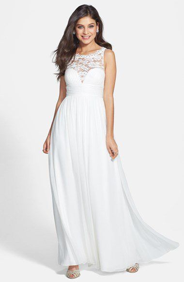 Aidan Mattox Embellished Lace & Silk Chiffon Gown (Online Only ...
