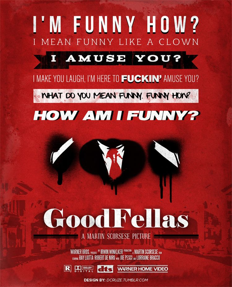 "Goodfellas - ""I'm funny how? Im mean funny like a clown I amuse you?... How am I funny?"" #GangsterMovie #GangsterFlick"