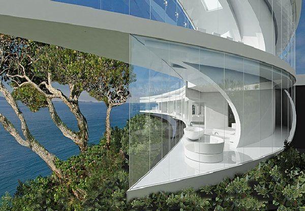 Futuristic Mahina House Design With Glass Wall Photo Futuristic