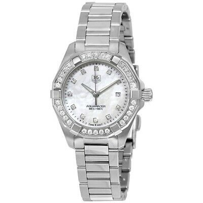 TAG Heuer Womens WAY1414.BA0920 Aquaracer Diamond-Accented Stainless Steel Watch