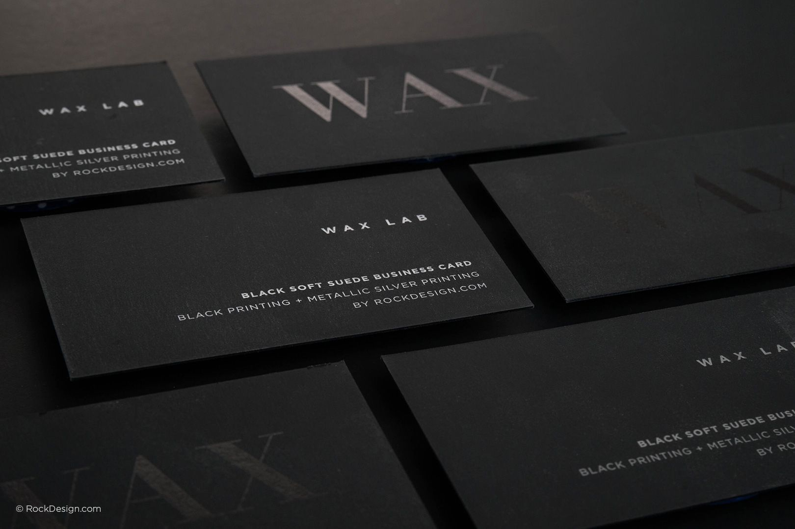 Modern minimalistic black suede business card with metallic ink modern minimalistic black suede business card with metallic ink wax rockdesign luxury business card printing colourmoves