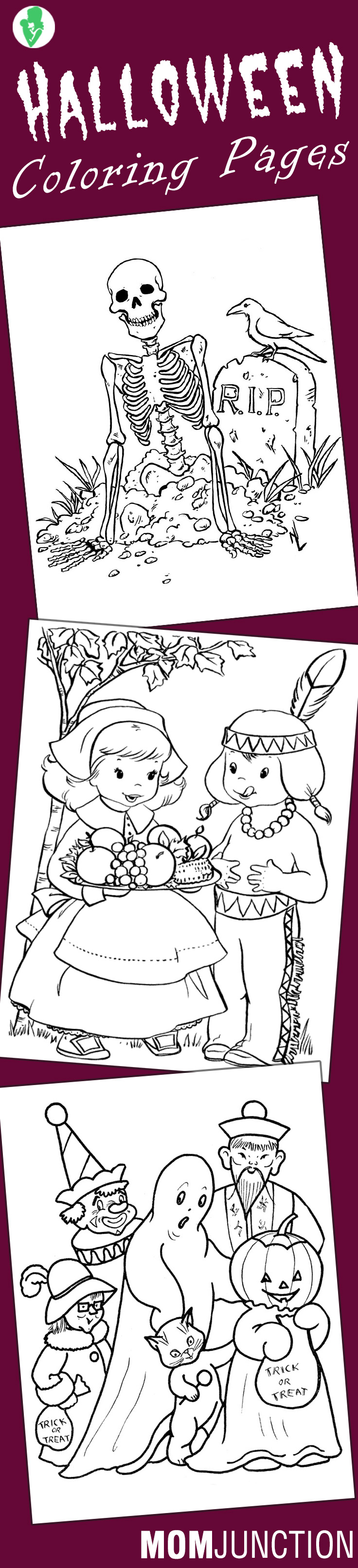 Halloween Coloring Pages Free Printables Momjunction Halloween Coloring Halloween Coloring Pages Coloring Pages
