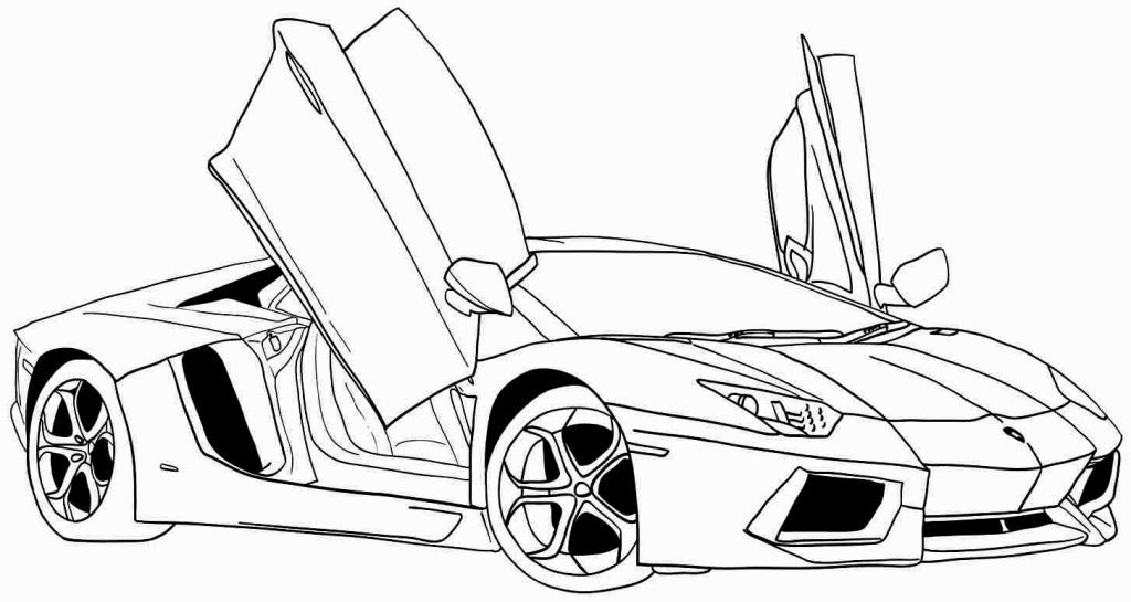Sport Cars Coloring Pages Sports