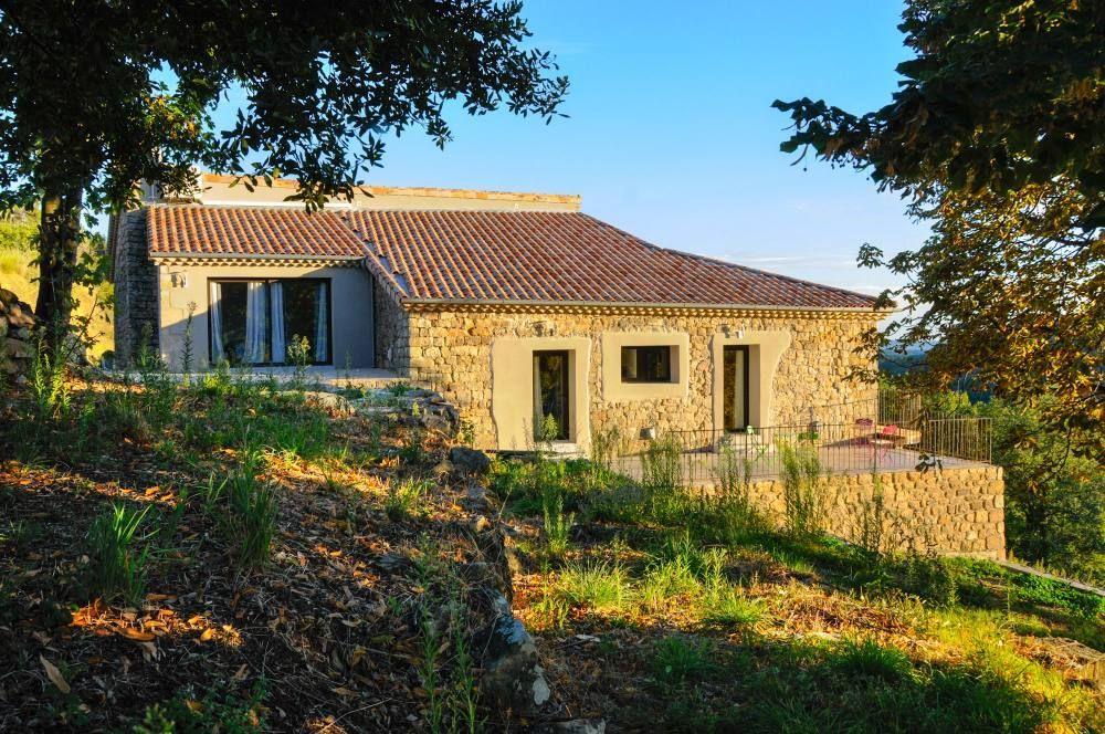 Le Mas d\u0027Alice maison en pierre avec vue panoramique - Ardèche