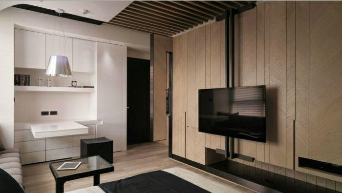 wohnzimmer einrichten wandverkleidung wandgestaltung wandpaneele ... - Wohnzimmer Design Holz