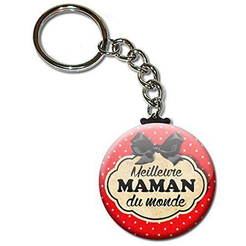 Meilleure MAMAN du monde Porte clés chaînette 38mm ( Idée Cadeau