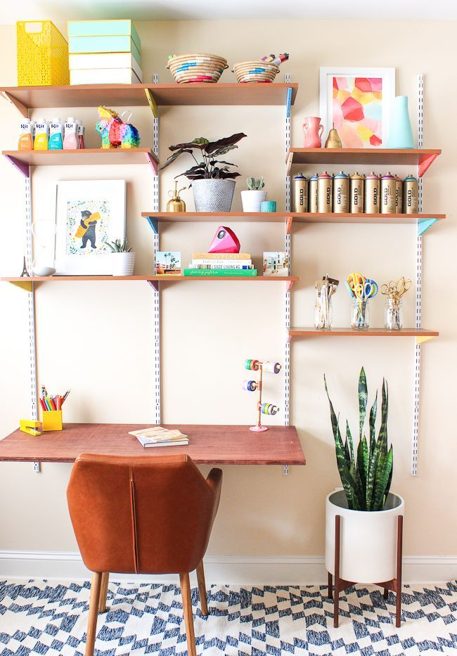 Pinned It Made It Loved It Diy Mounted Wall Desk The Crafted