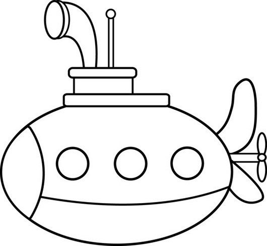 submarine nautical vehicle coloring picture | Submarine Coloring ...
