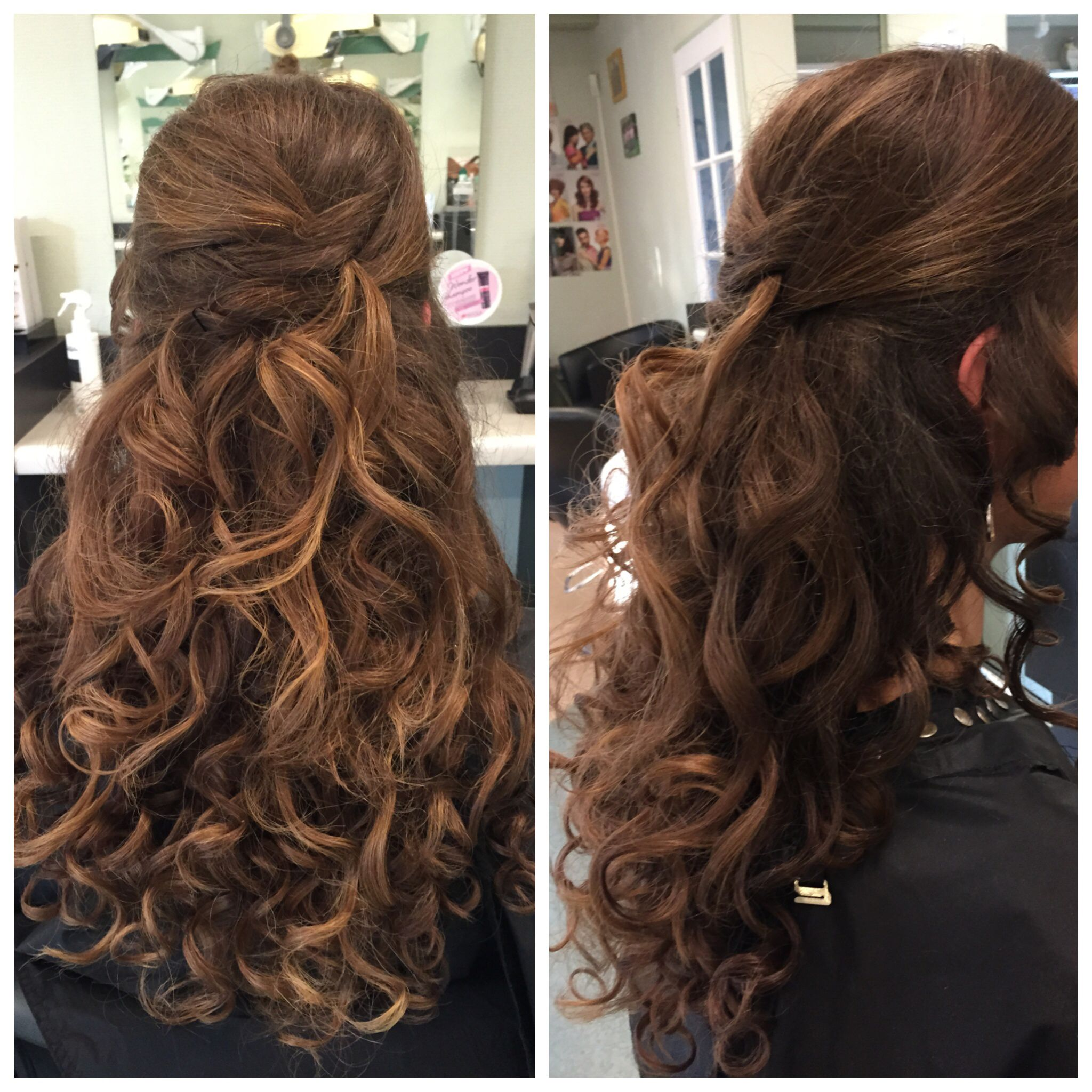 Lang haar met krullen wedding hairstyle pinterest for Blow out karlsruhe