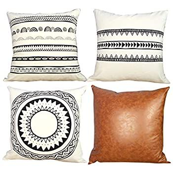 Sungea Decorative Throw Pillow Covers 18 x 18 Inch,