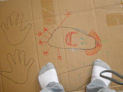 Baby Brainstorm: Footprint Faces