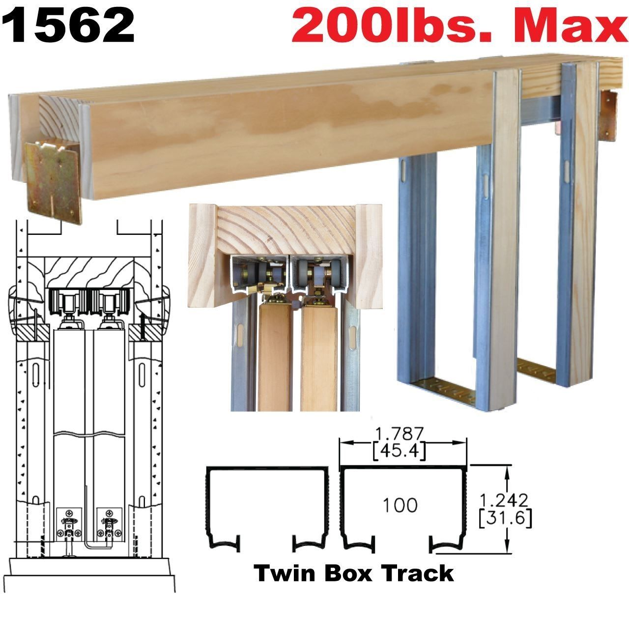 Double Pocket Door Frame Kit