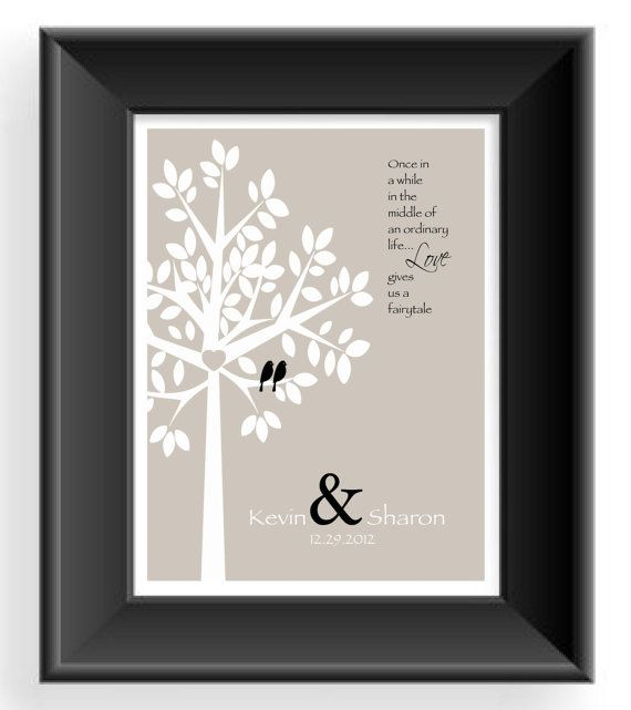 Personalized Couple Gift Valentines Day Wedding First Anniversary Wording Can Be Changed
