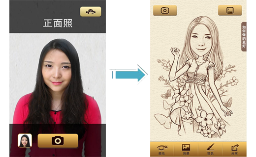 Aplikasi Karikatur Momancamera Karikatur Aplikasi