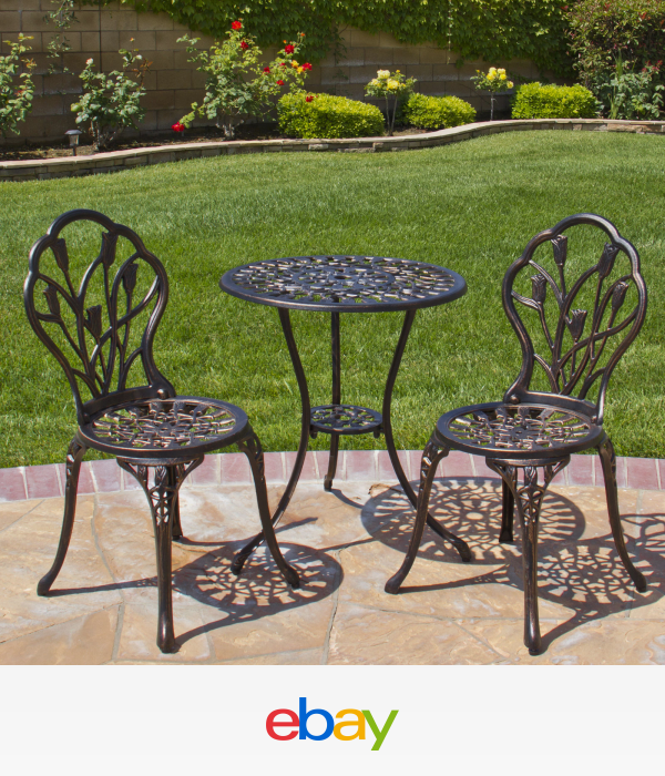 best choice products cast aluminum patio bistro furniture set in rh pinterest co uk