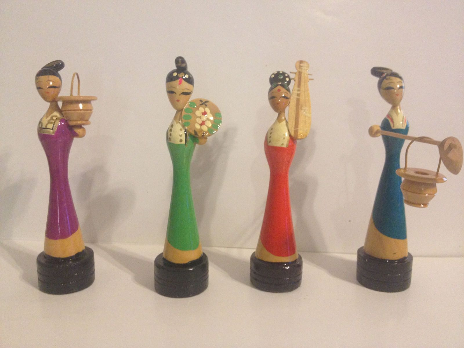 Lot 4 beautiful hand panted hand made Oriental figure vintage pencil sharpeners picclick.com