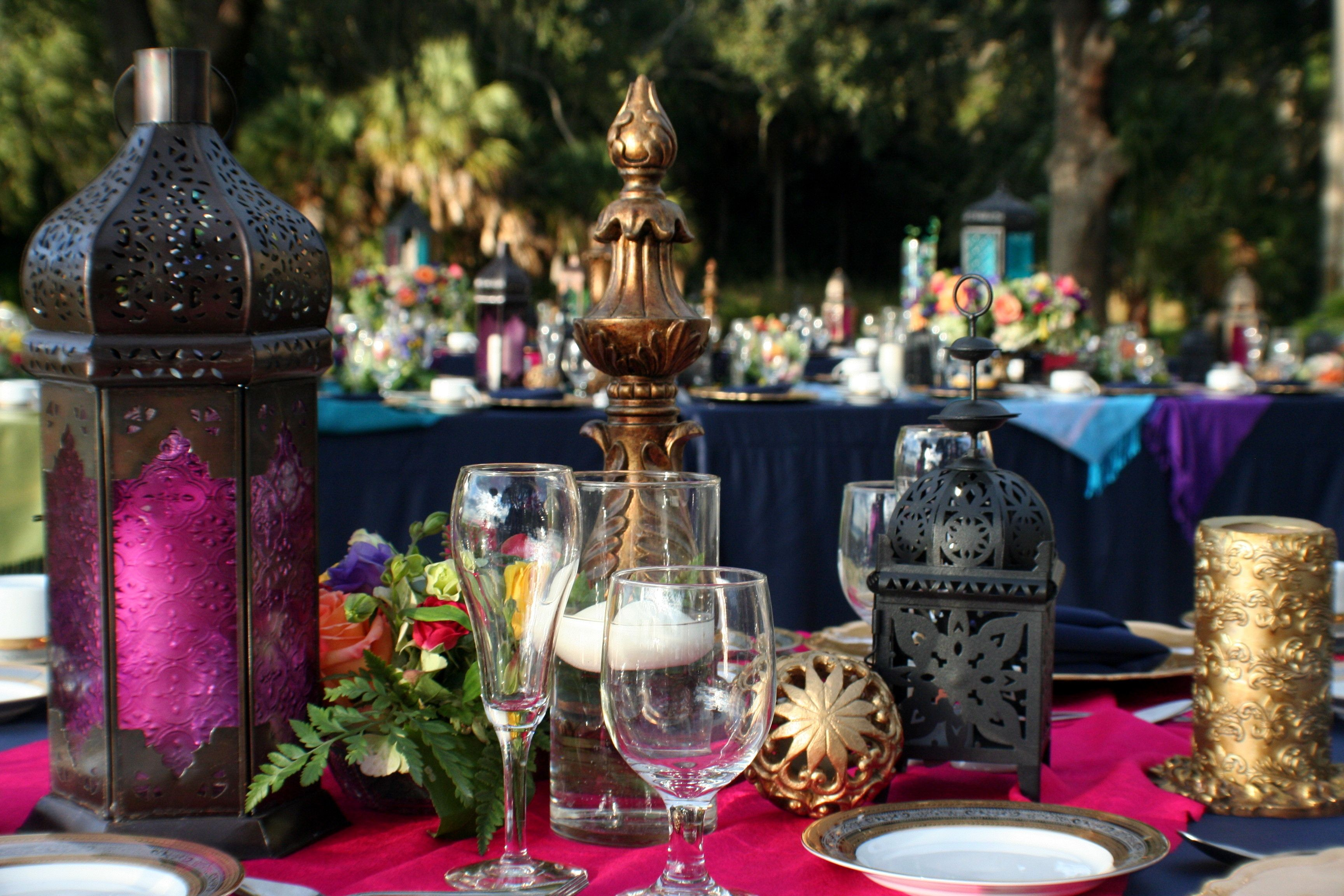 Colorful Moroccan inspired wedding