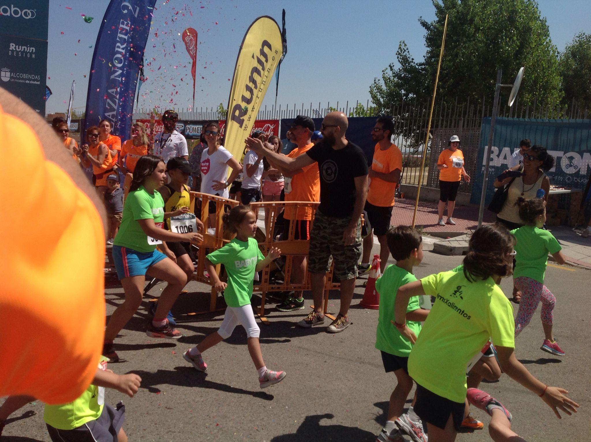 Carrera infantil en Babyton, Madrid