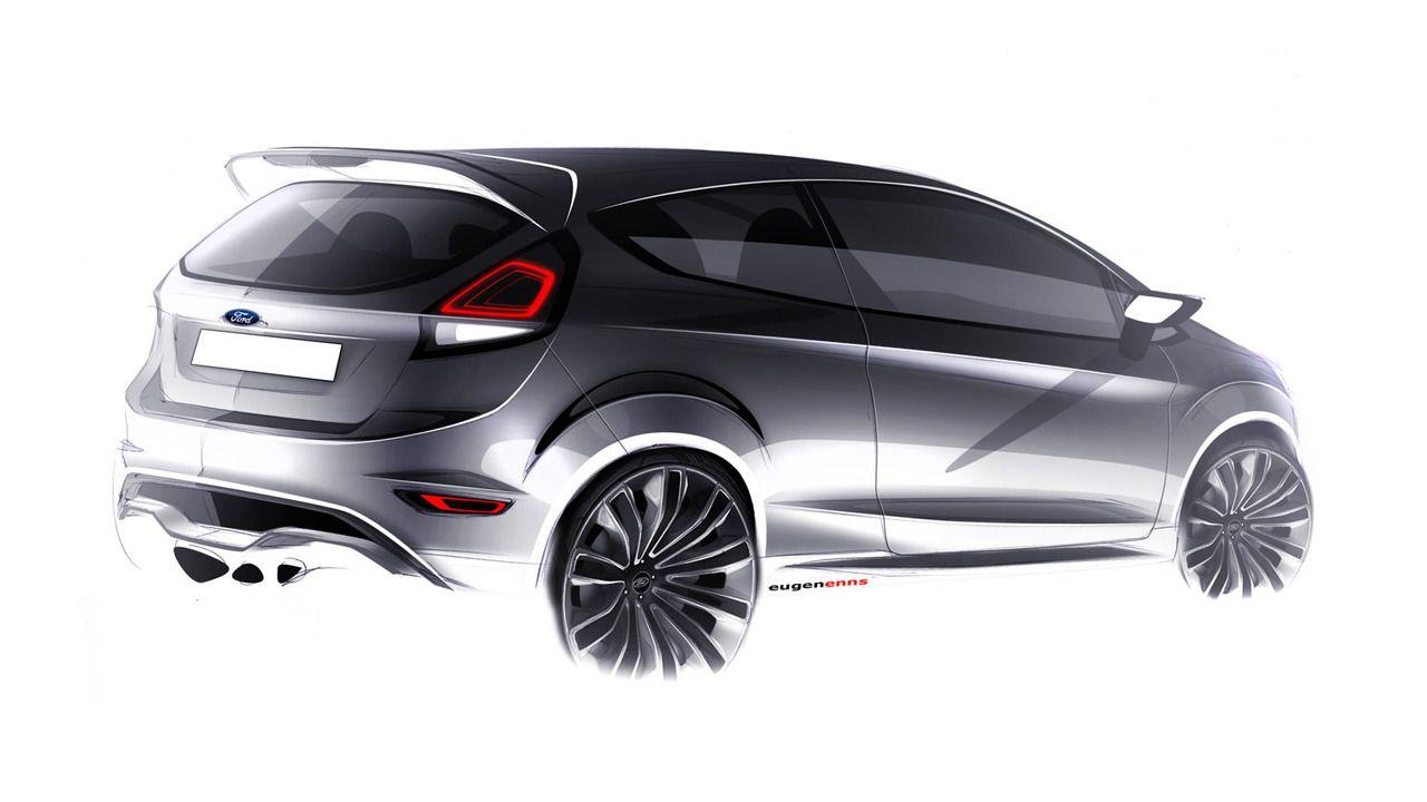 Ford Fiesta St Exterior Design Sketch