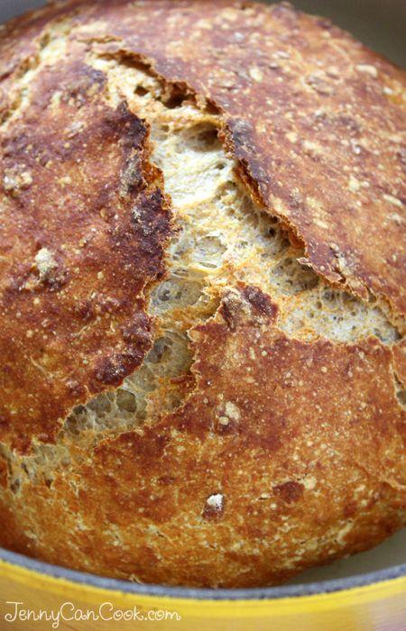 Multigrain No Knead Bread | Recipe in 2019 | Knead bread ...