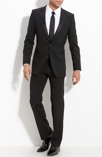 ... blue suit. ~ ~I love this~ ~ HUGO  Aikin Hollo  Trim Fit Wool Tuxedo  (Free Next Day Shipping) (Online Only) available at  Nordstrom a85dcd9fa2cfa