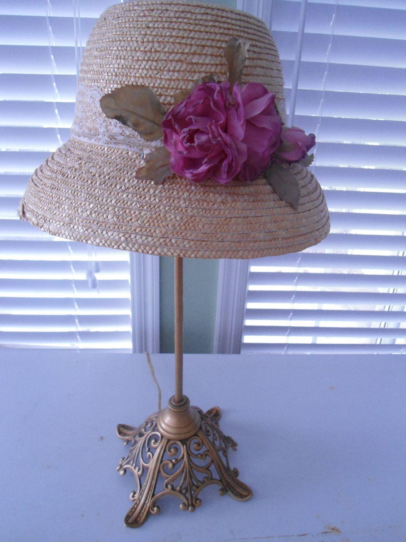 Vintage Bedroom Lamp Victorian Hat Lamp Upcycled Lamp Repurposed Lamp Vintage Lamp Victorian Era Lighti Vintage Lamps Victorian Repurposed Lamp Bedroom Vintage