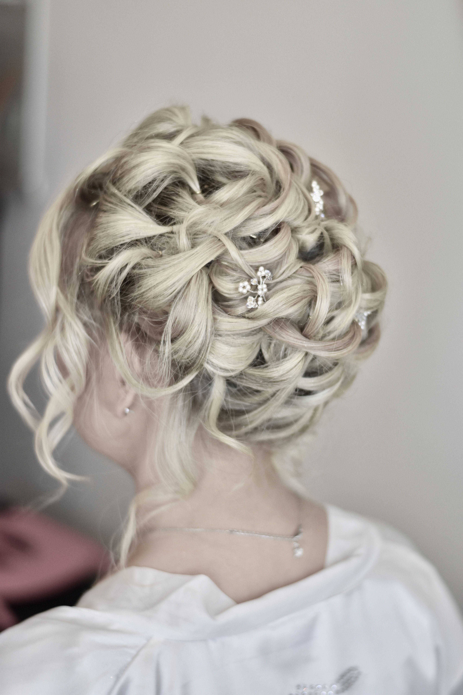 Beautiful Elegant Romantic Wedding Hair Wedding Hair And Makeup Romantic Wedding Hair Wedding Hairstyles