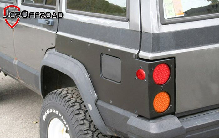 Jcroffroad Inc Cherokee Rear Upper Quarter Panel Guards W Tail
