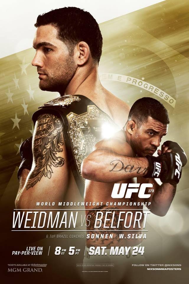 Ufc 173 Weidman Vs Belfort Cancelled Ufc Poster Ufc Chris Weidman Ufc