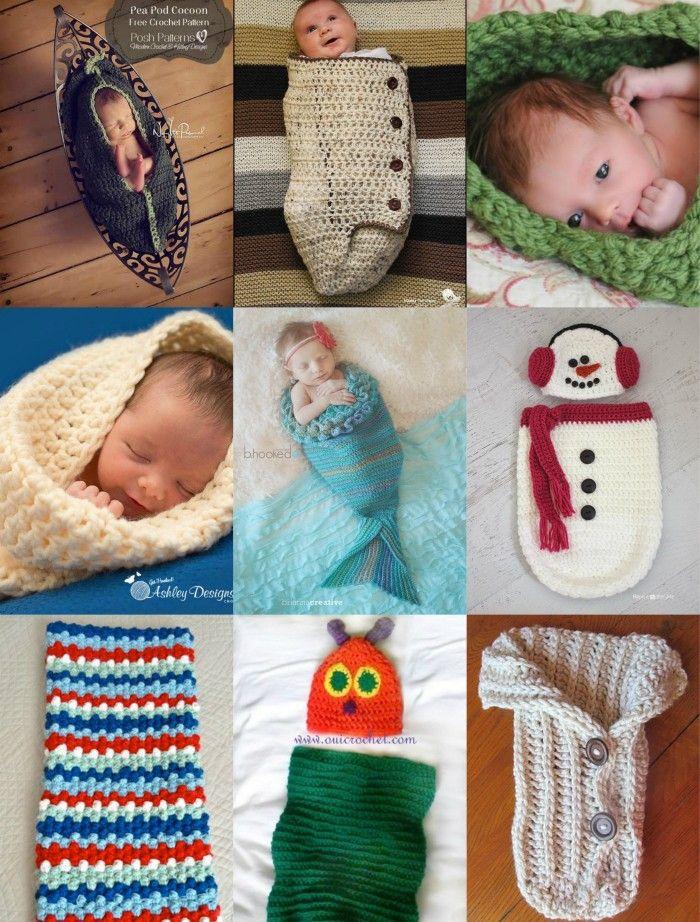 15 Gorgeous Baby Cocoon Patterns · Arts & Crafts | Crochet | Pinterest