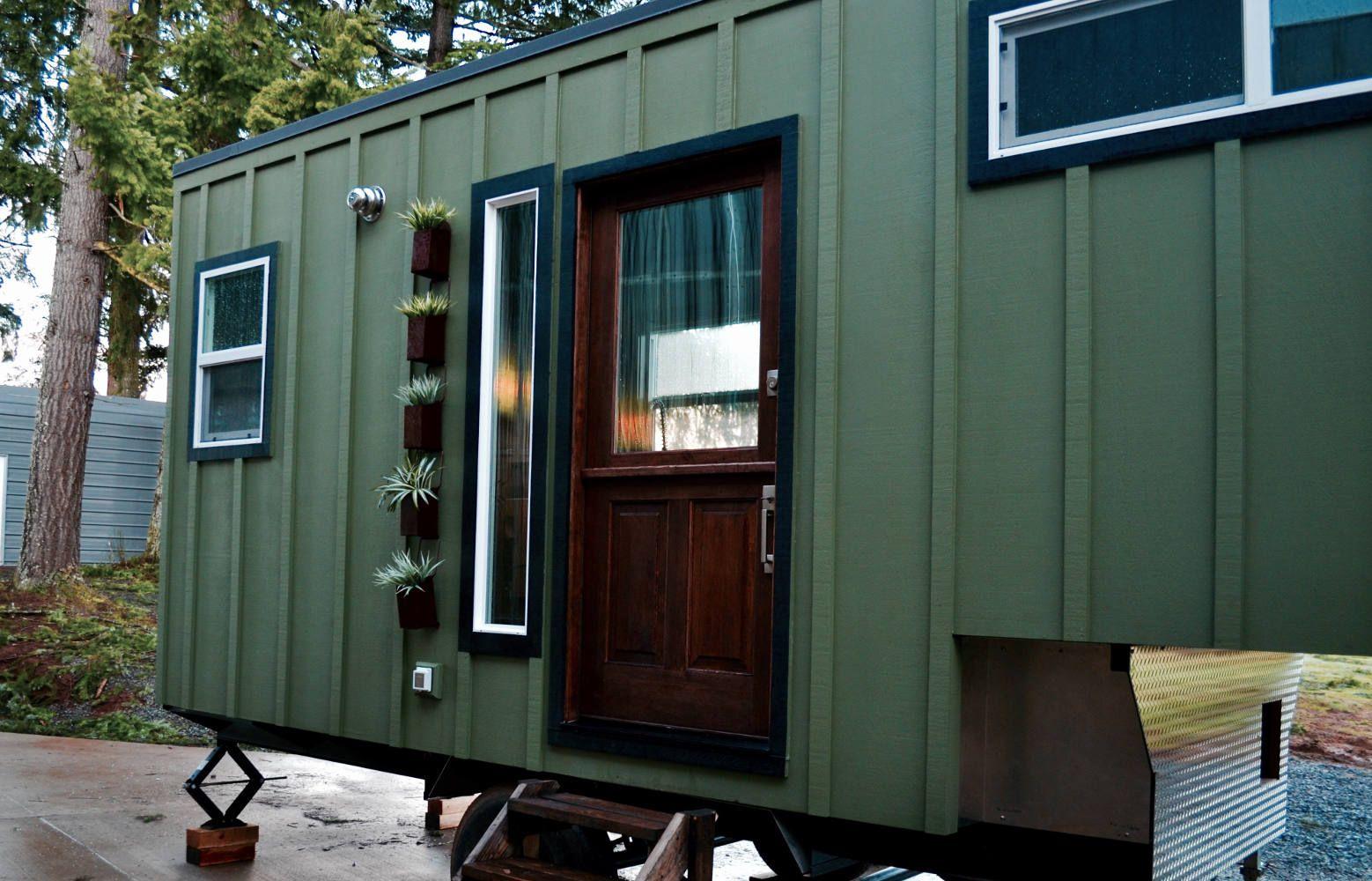 A tiny house on wheels designed by Tiny Heirloom of Portland, Oregon.