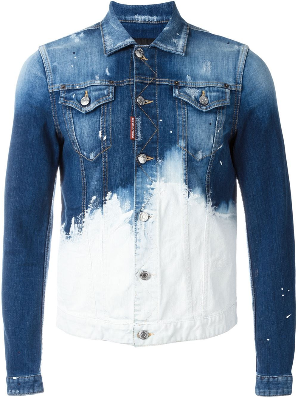 2cfc12f5a83 Dsquared2 paint splatter denim jacket More